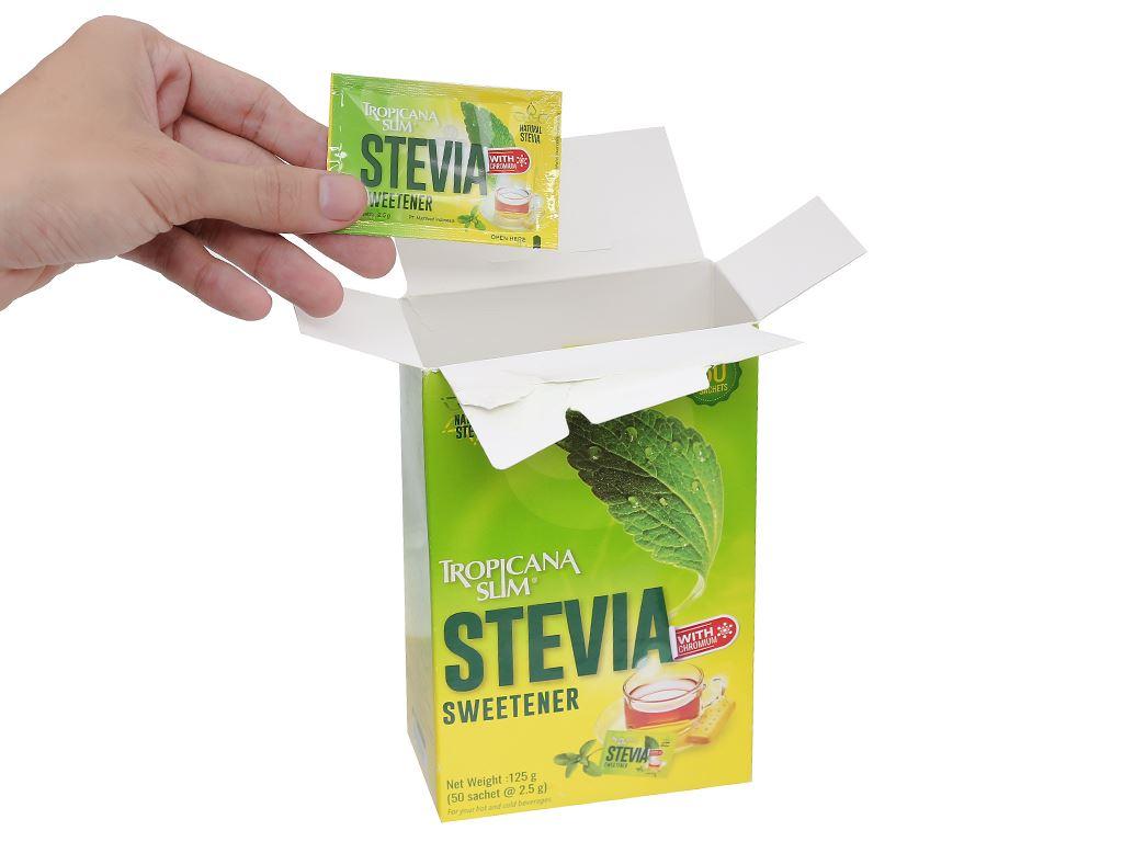Đường lá cỏ ngọt Tropicana Slim Stevia hộp 125g 4
