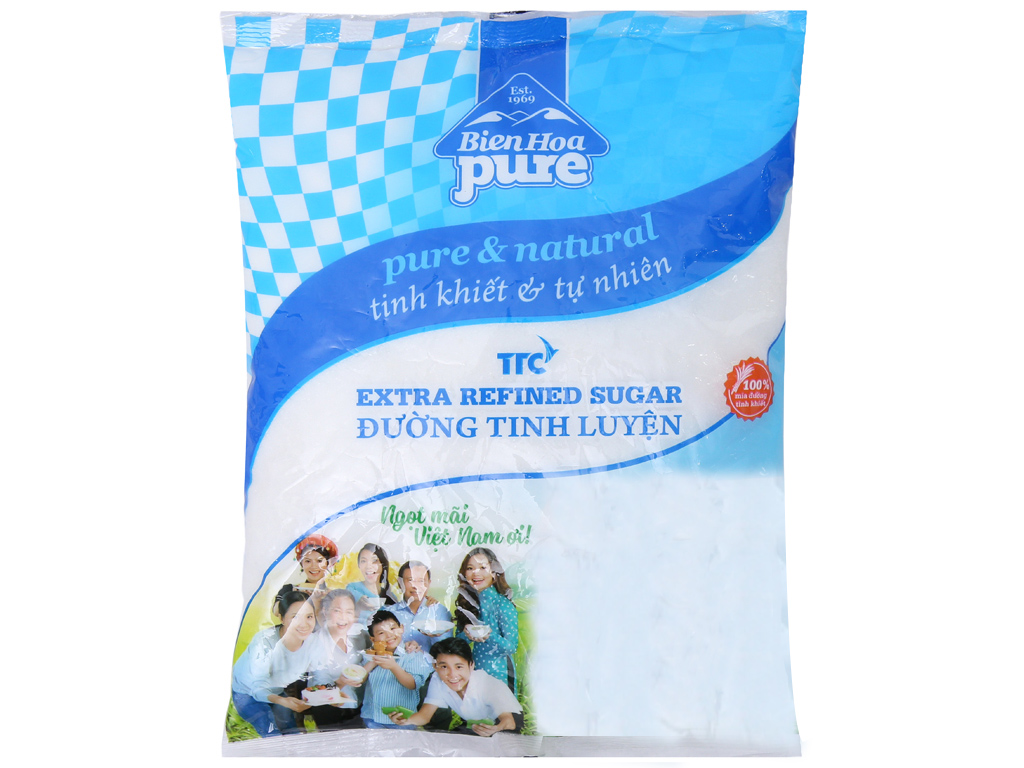 Đường tinh luyện Biên Hòa Pure gói 1kg 1