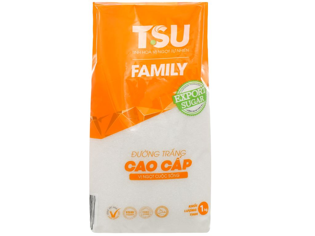 Đường trắng cao cấp TSU Family gói 1kg 1