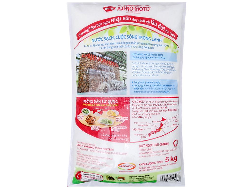 Bột ngọt Ajinomoto hạt nhỏ bịch 5kg 3