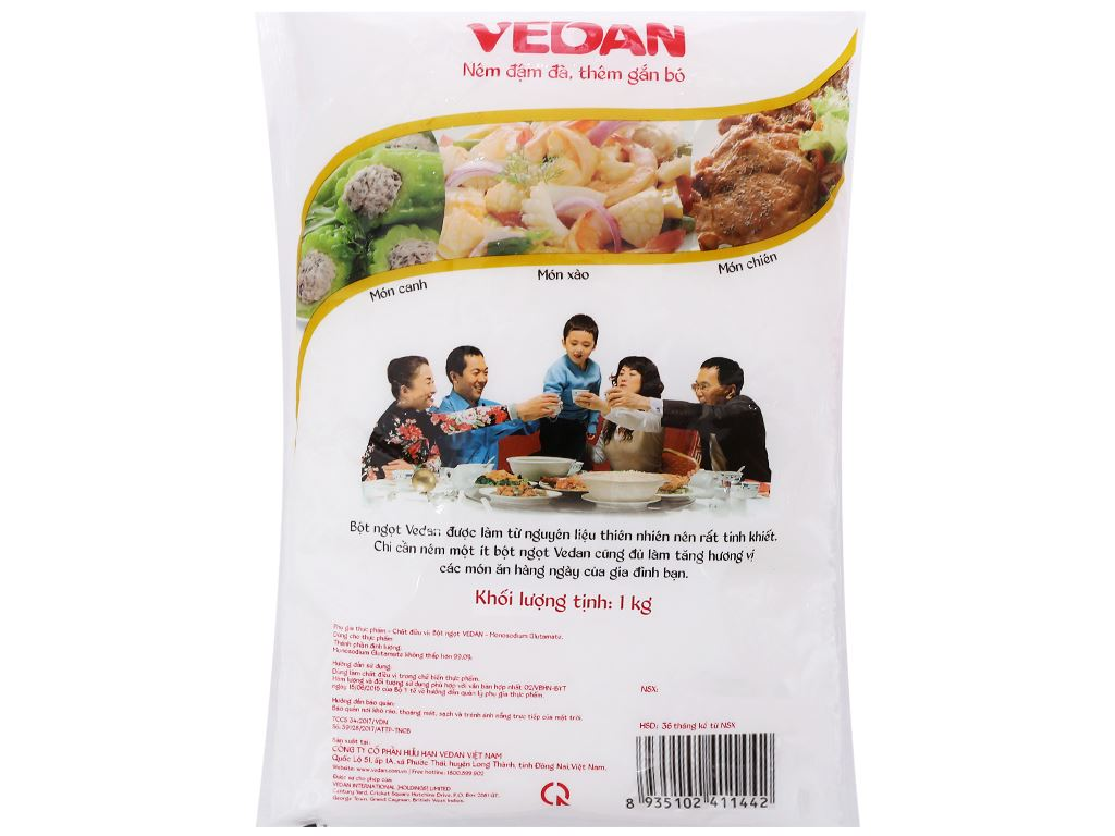 Bột ngọt hạt lớn Vedan gói 1kg 2