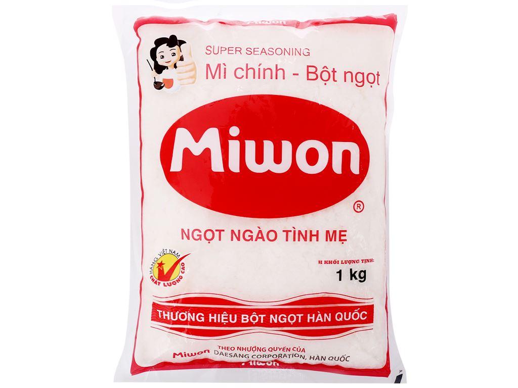 Bột ngọt hạt nhỏ Miwon gói 1kg 1
