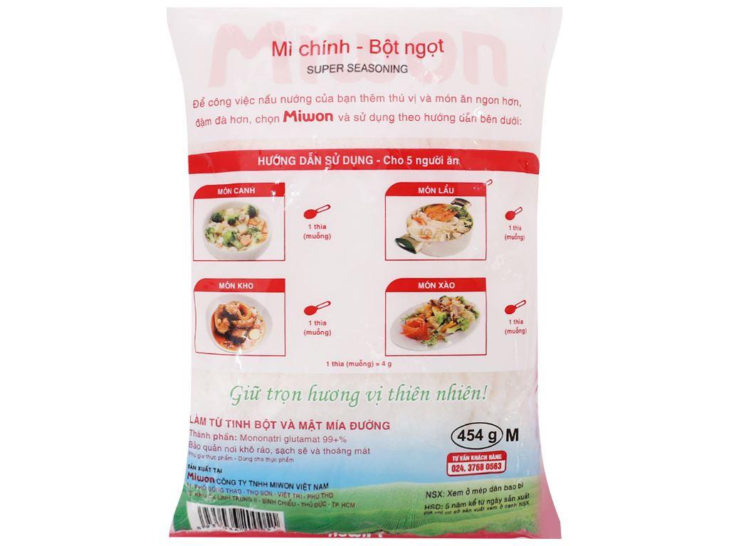 Bột ngọt hạt nhỏ Miwon gói 454g 2