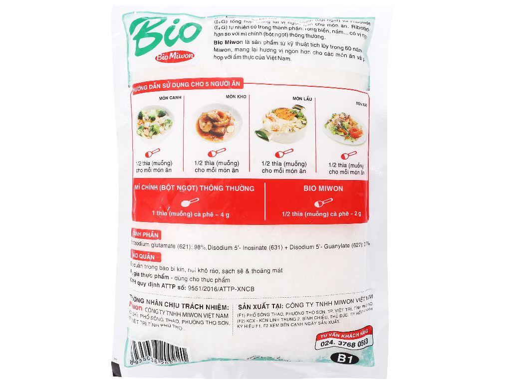 Hỗn hợp tăng vị bột ngọt hạt nhỏ Bio Miwon gói 320g 2