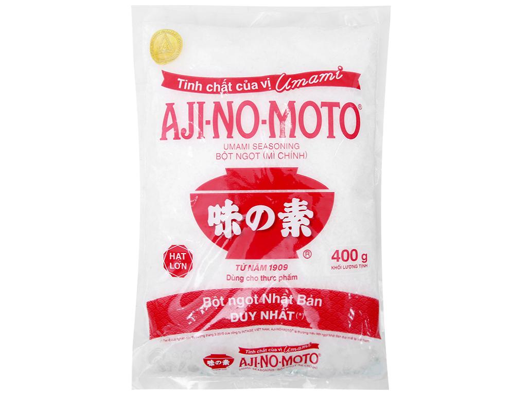 Bột ngọt Ajinomoto hạt lớn gói 400g 1