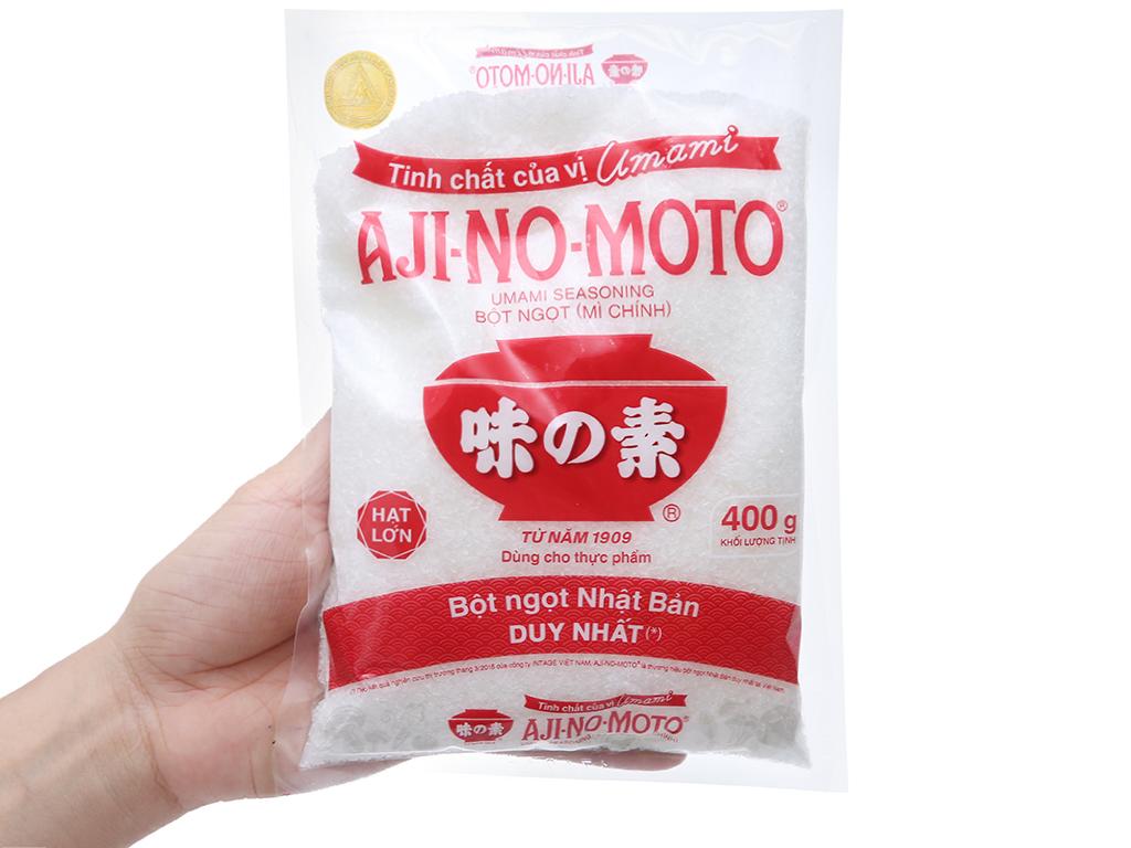Bột ngọt Ajinomoto hạt lớn gói 400g 3