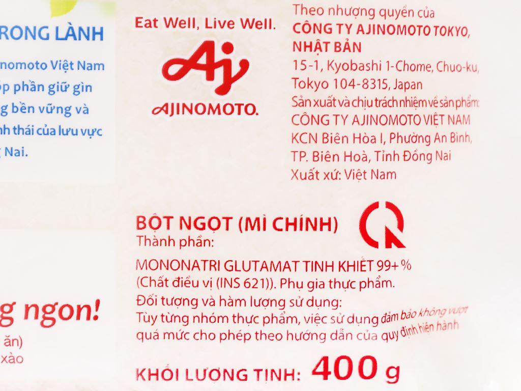 Bột ngọt Ajinomoto gói 400g 8