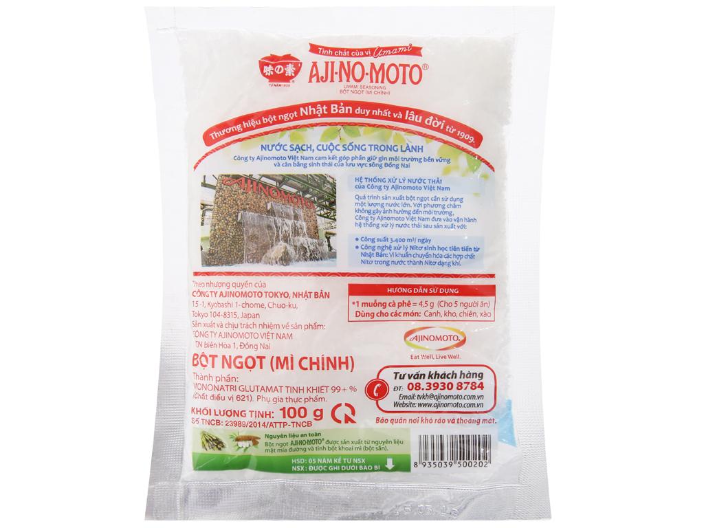 Bột ngọt Ajinomoto hạt lớn gói 100g 2