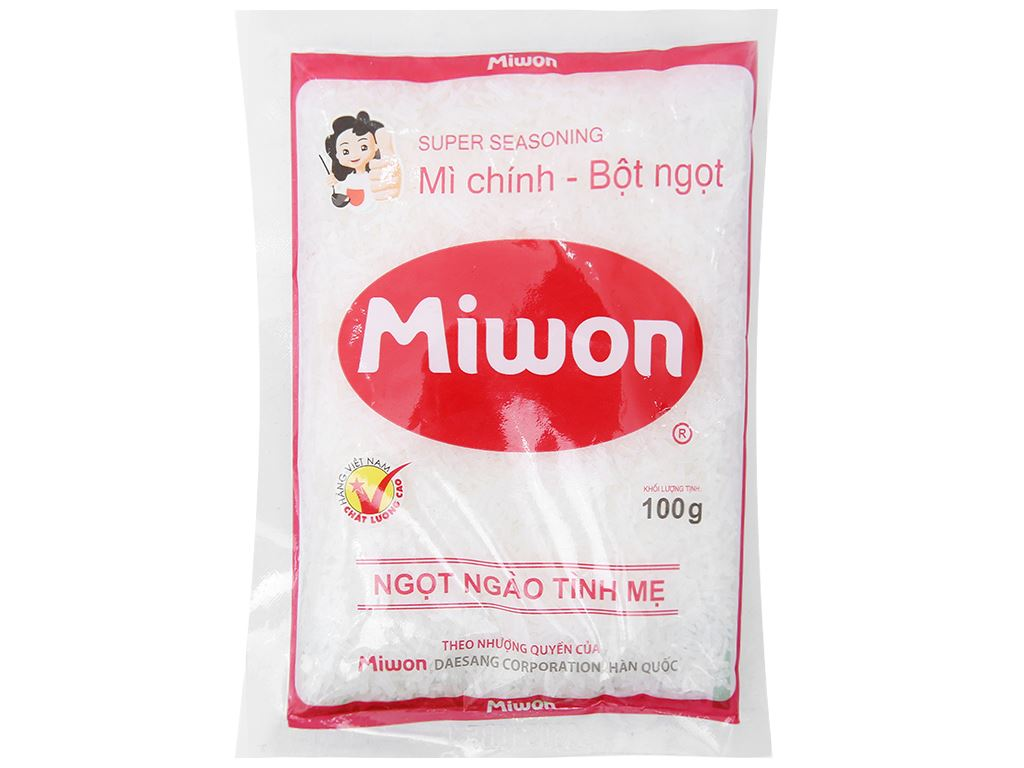 Bột ngọt Miwon gói 100g 1