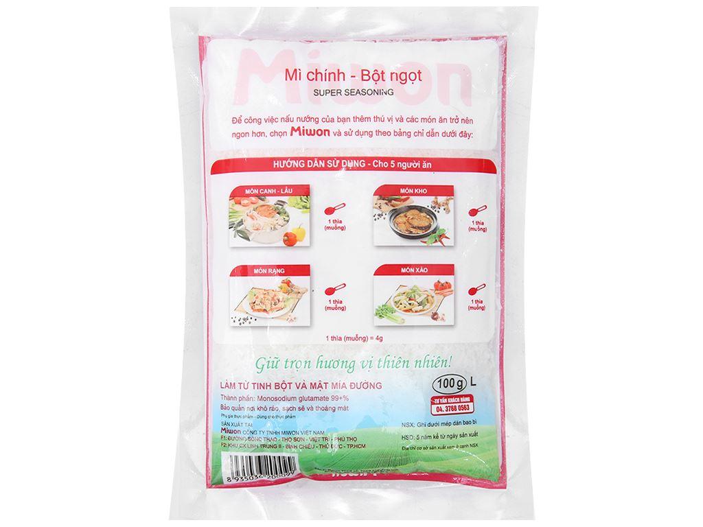 Bột ngọt Miwon gói 100g 2