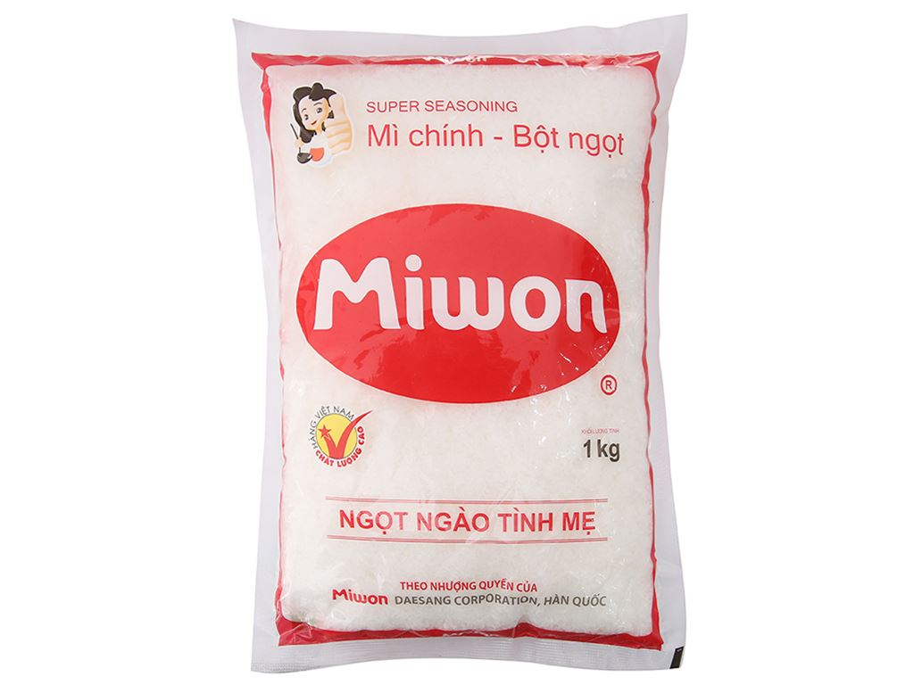 Bột ngọt Miwon gói 1kg 1