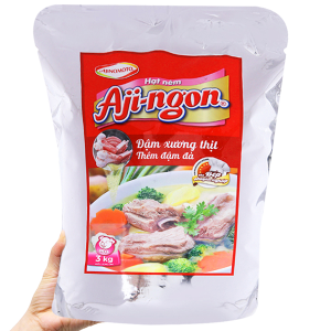 Hạt nêm Xương, thịt heo Aji-ngon gói 3kg