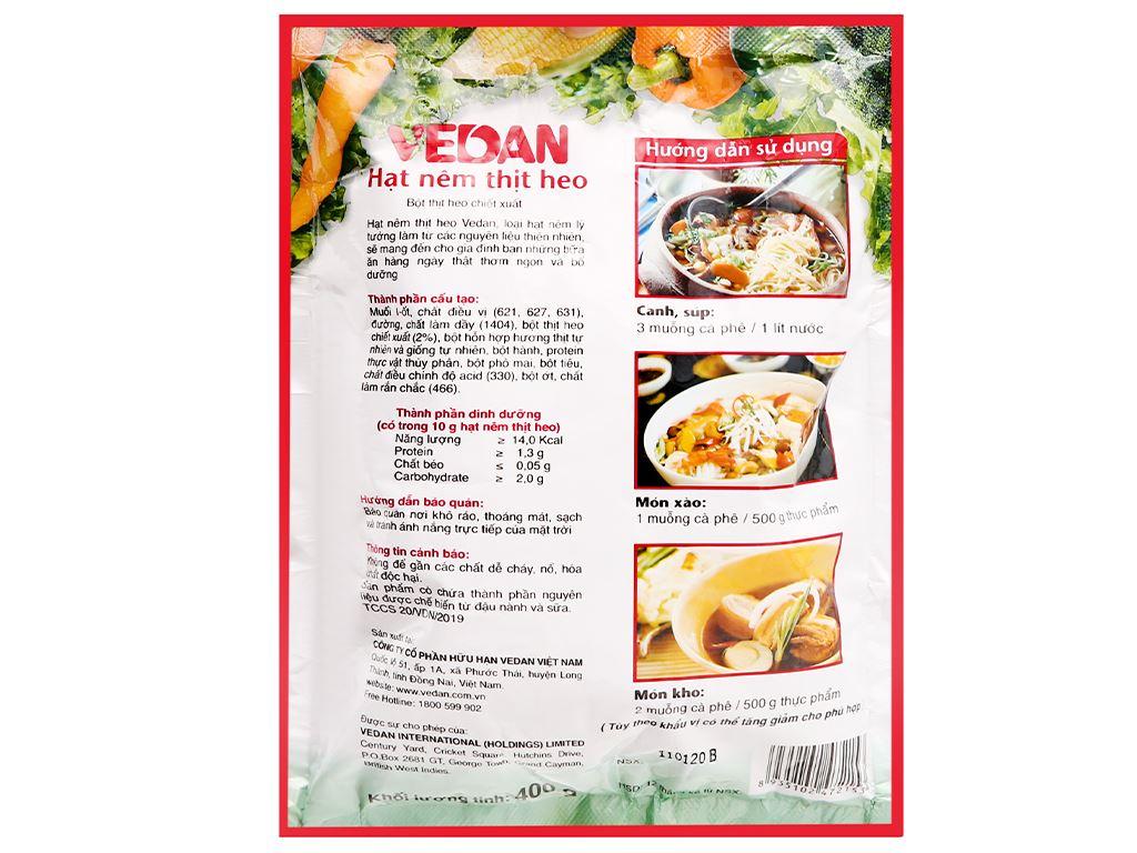 Hạt nêm thịt heo Vedan gói 400g 2