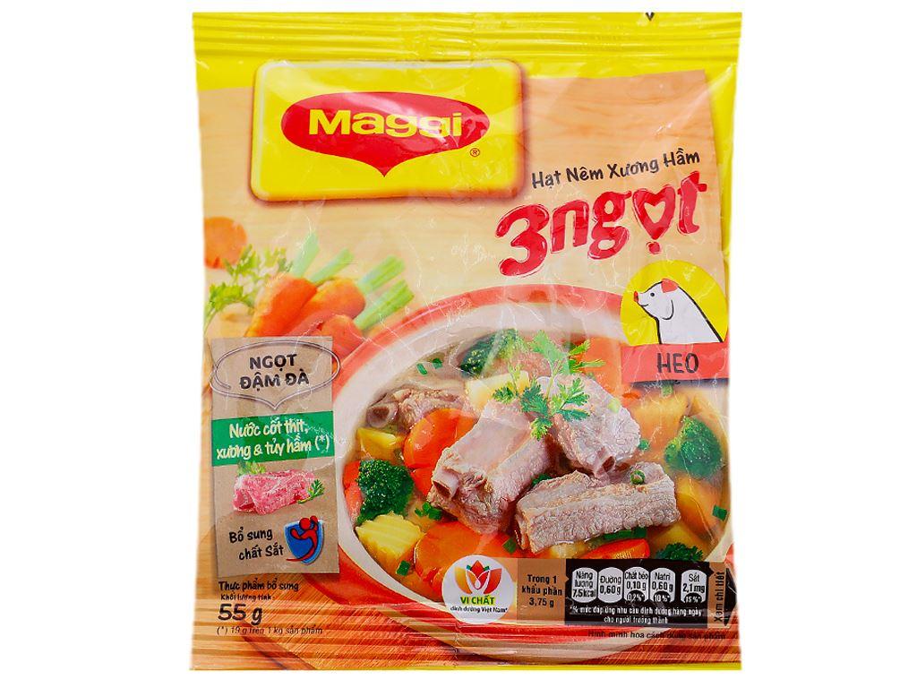 Hạt nêm vị heo Maggi gói 55g 1