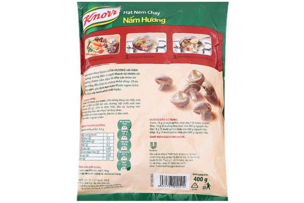 Hạt nêm Knorr Nấm Hương gói 400g