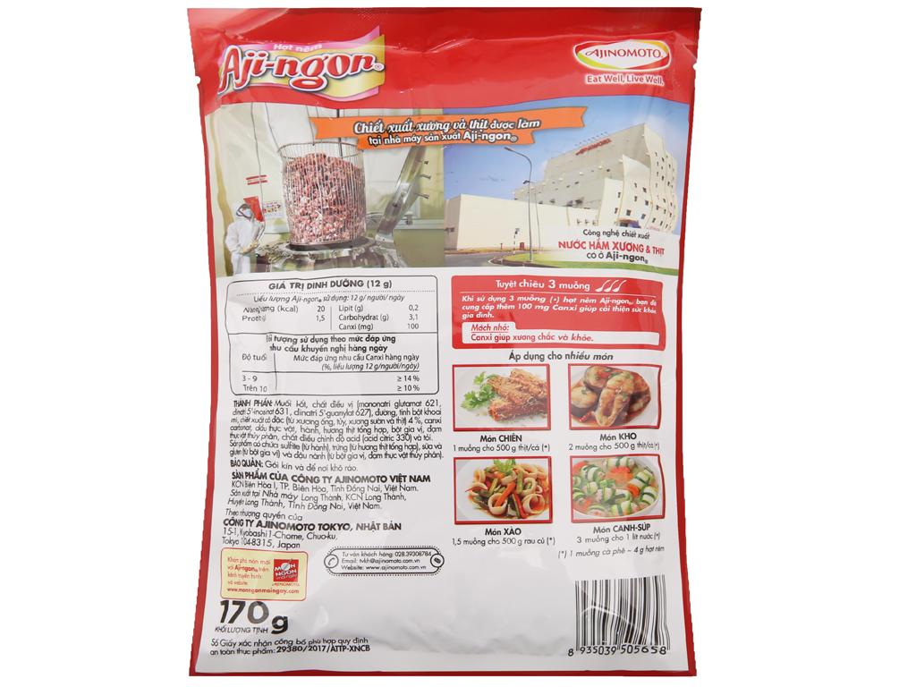 Hạt nêm Xương, thịt heo Aji-ngon gói 170g 2