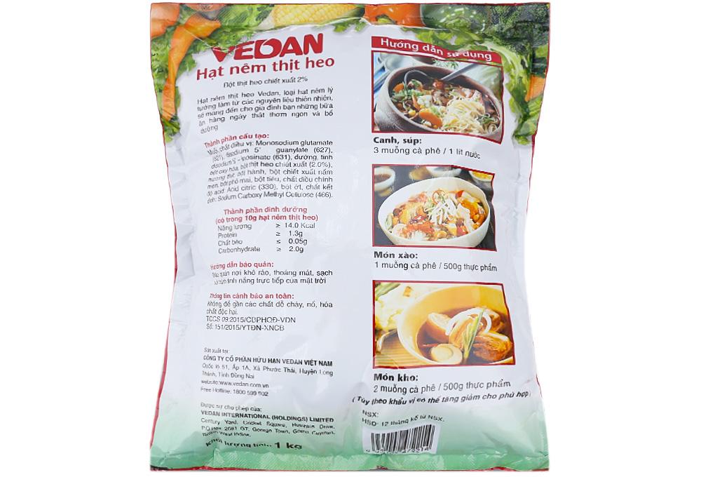 Hạt nêm thịt heo Vedan gói 1kg-2