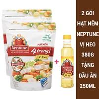 2 gói hạt nêm Neptune vị Heo 380g tặng Dầu ăn 250ml