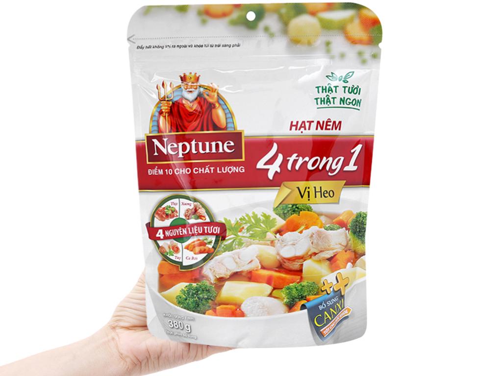 Lốc 2 gói hạt nêm vị heo Neptune gói 380g (tặng dầu ăn) 3