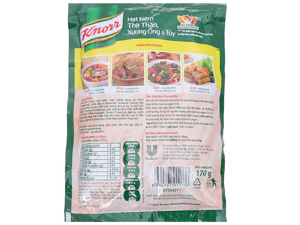 Hạt nêm thịt thăn, xương ống, tủy Knorr gói 170g 2