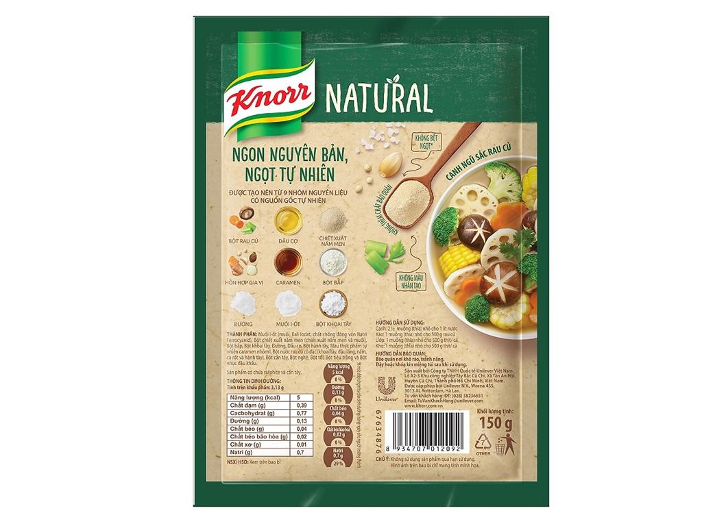 Hạt nêm tự nhiên vị rau củ Knorr Natural gói 150g 2