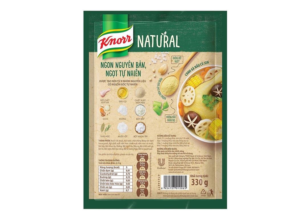 Hạt nêm tự nhiên vị gà Knorr Natural gói 330g 2