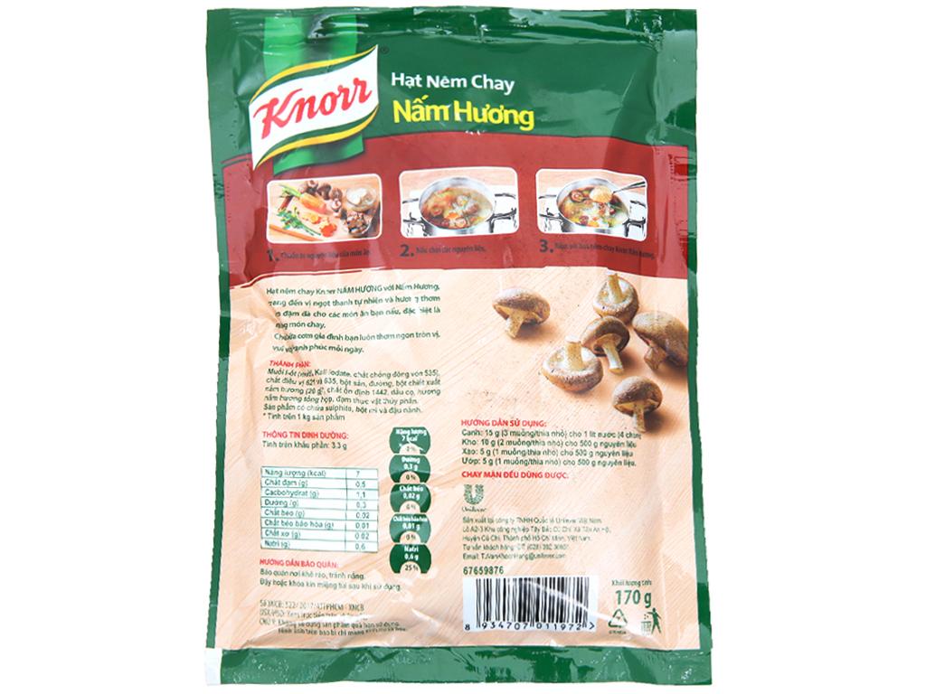 Hạt nêm chay Nấm hương Knorr gói 170g 2