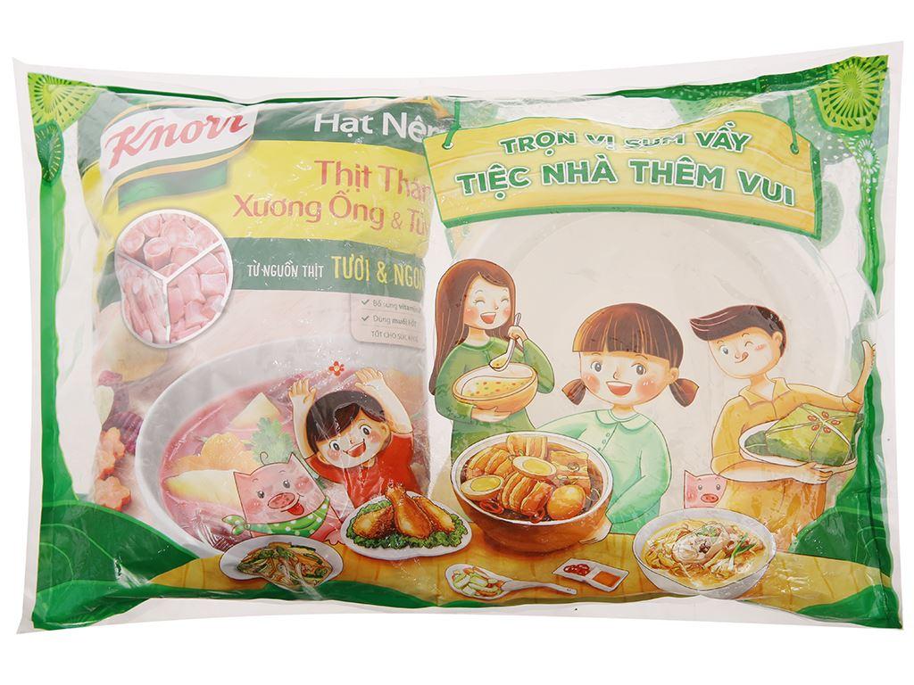 Hạt nêm thịt thăn, xương ống, tủy Knorr gói 900g (tặng tô vân có nắp) 1