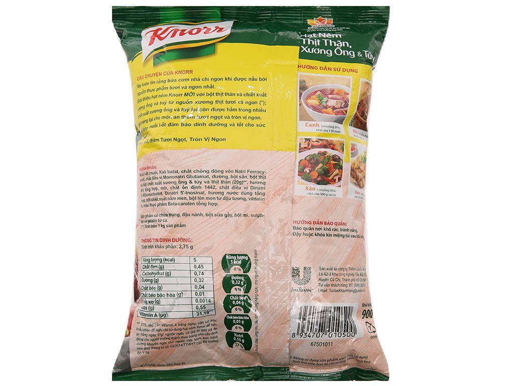 Hạt nêm thịt thăn, xương ống, tủy Knorr gói 900g (tặng tô vân có nắp) 3