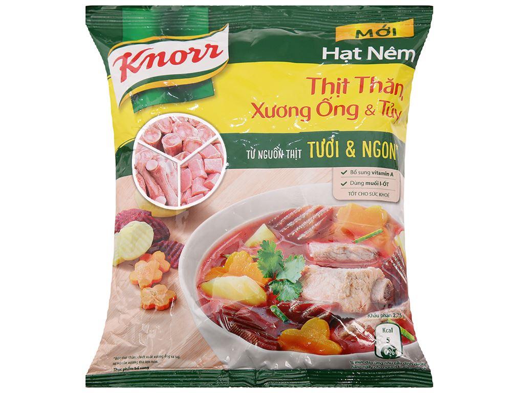 Lốc 2 gói Hạt nêm thịt thăn, xương ống, tủy Knorr 400g (tặng dĩa ảo vân) 2