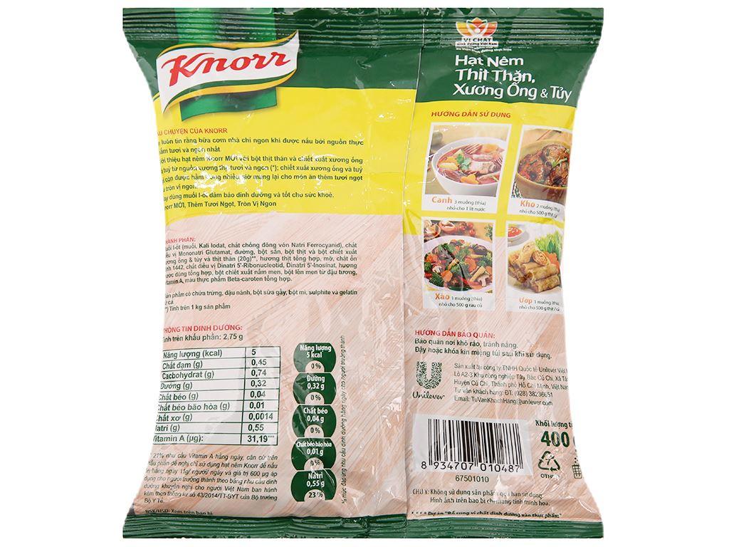 Lốc 2 gói Hạt nêm thịt thăn, xương ống, tủy Knorr 400g (tặng dĩa ảo vân) 3
