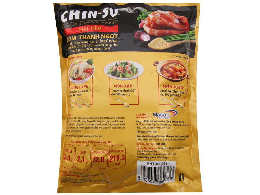 Hạt nêm Tôm thanh ngọt Chinsu gói 400g 2