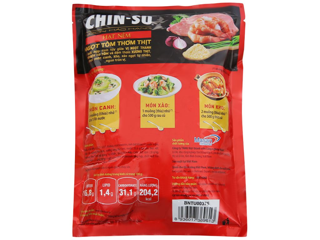 Hạt nêm Ngọt tôm thơm thịt Chinsu gói 400g 2