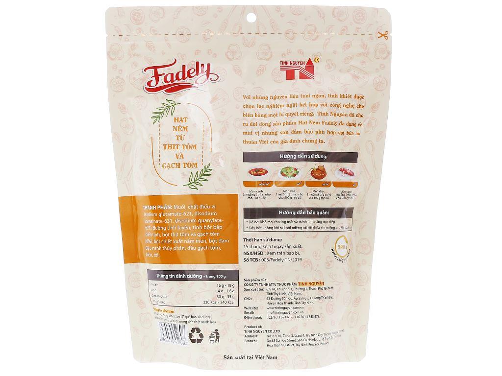 Hạt nêm từ thịt tôm và gạch tôm Fadely gói 390g 2