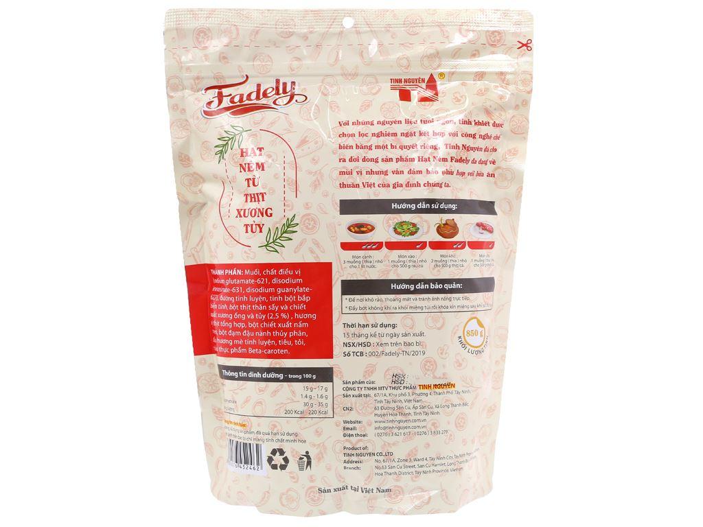 Hạt nêm từ thịt xương tuỷ Tinh Nguyên Fadely gói 850g 2