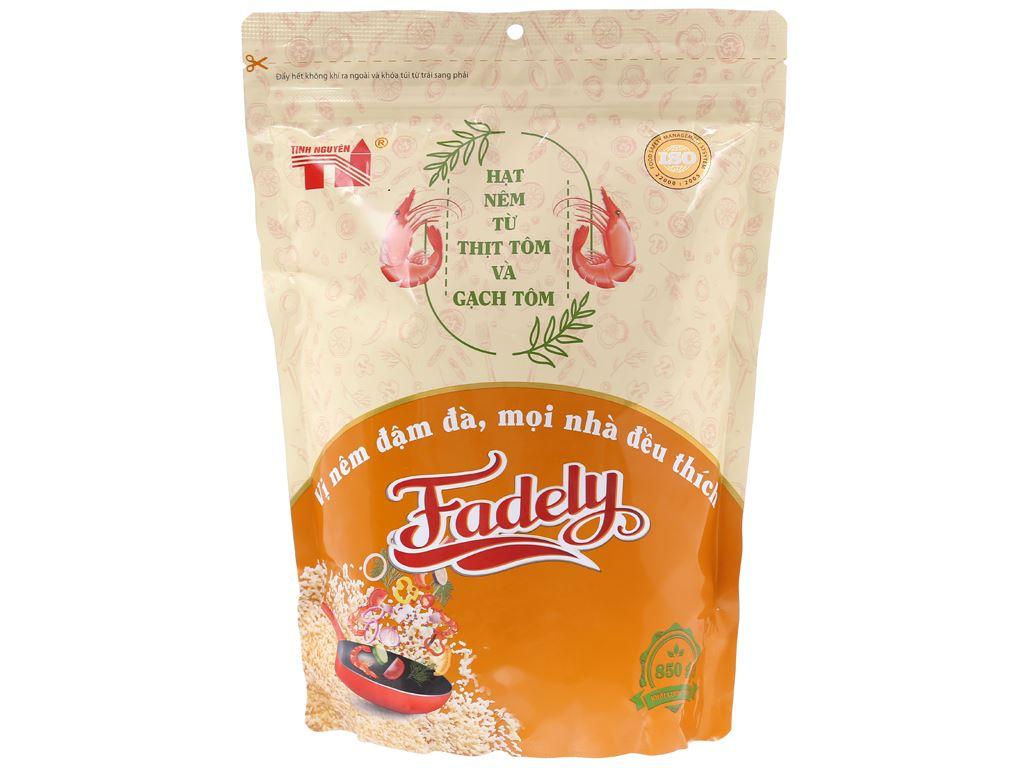 Hạt nêm từ thịt tôm và gạch tôm Fadely Tinh Nguyên gói 850g 1