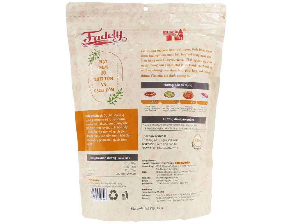 Hạt nêm từ thịt tôm và gạch tôm Fadely Tinh Nguyên gói 850g 2