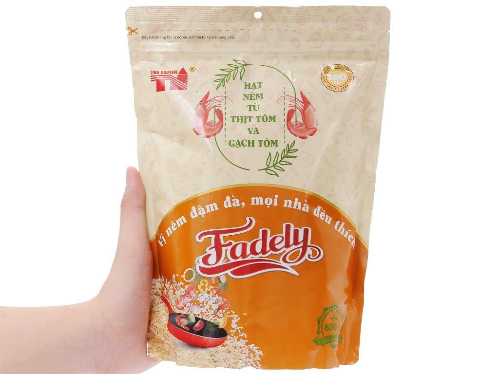 Hạt nêm từ thịt tôm và gạch tôm Fadely Tinh Nguyên gói 850g 5