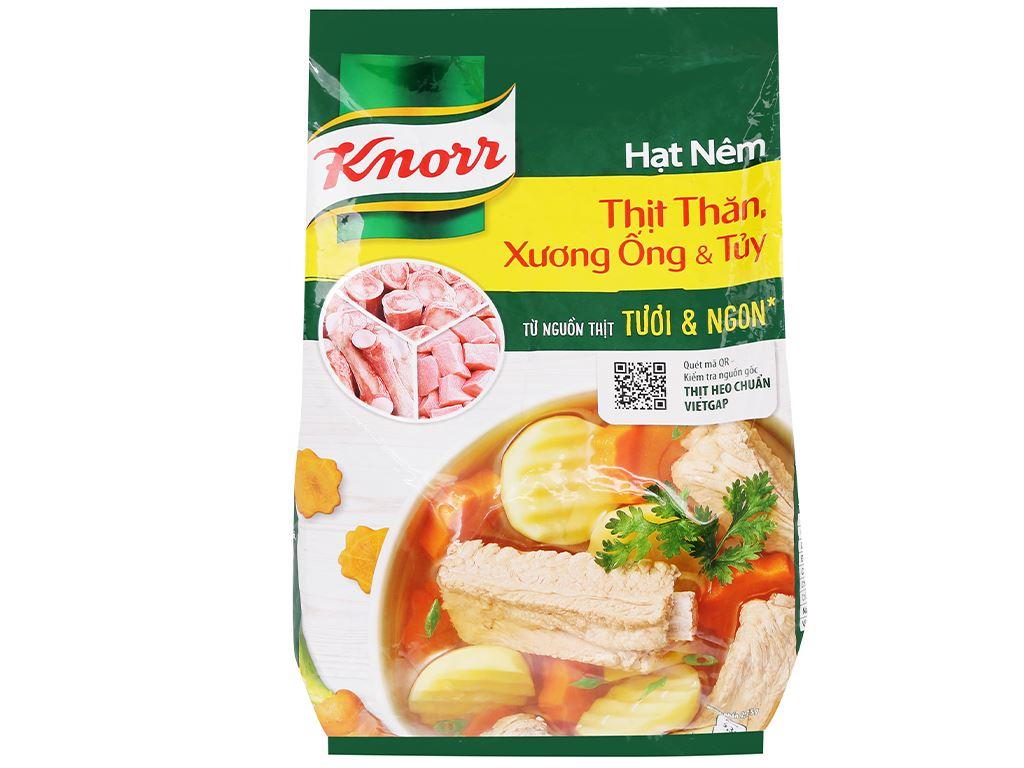 Hạt nêm thịt thăn, xương ống, tủy Knorr gói 1,8kg 1