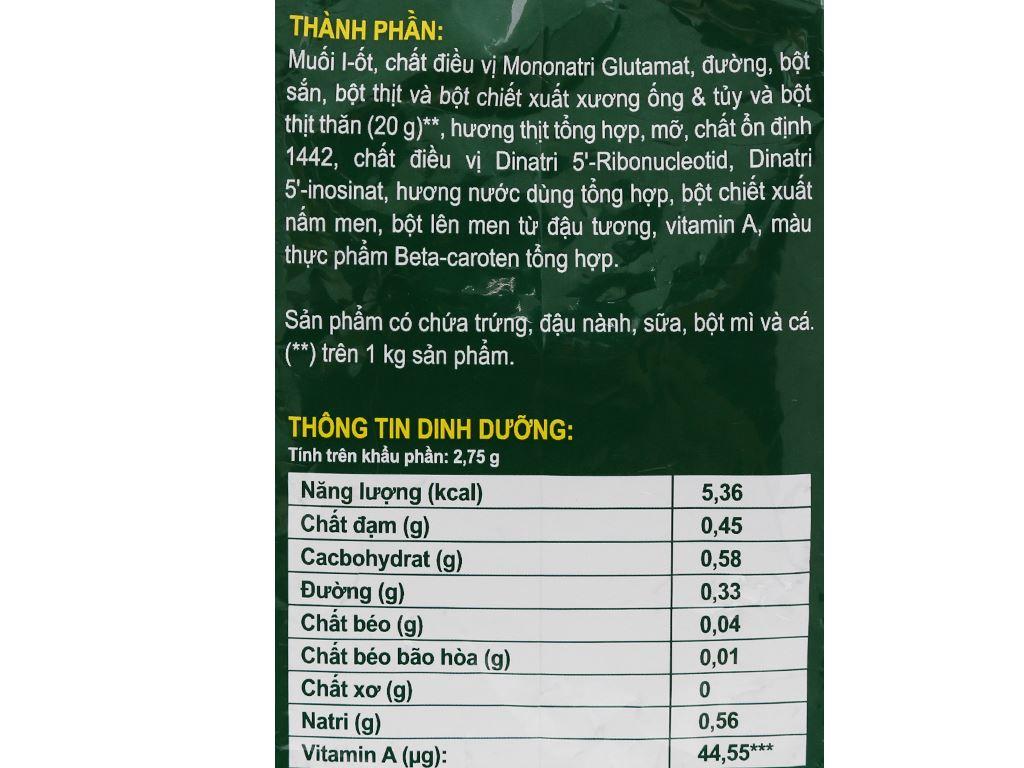 Hạt nêm thịt thăn, xương ống, tủy Knorr gói 1,8kg 6