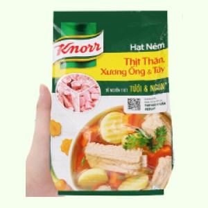 Hạt nêm thịt thăn, xương ống, tủy Knorr gói 1,8kg