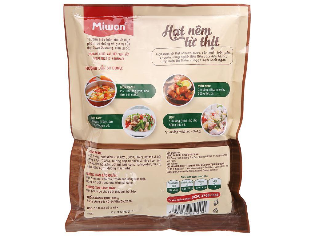 Hạt nêm từ thịt Miwon gói 400g 1