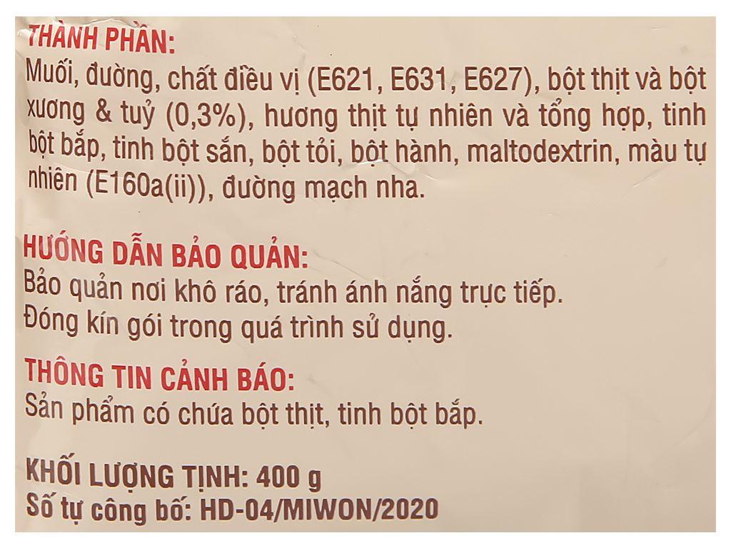 Hạt nêm từ thịt Miwon gói 400g 2