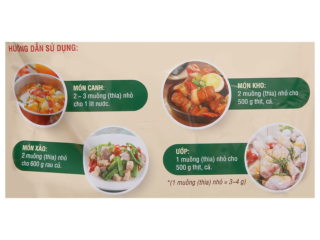 Hạt nêm từ thịt Miwon gói 400g 3