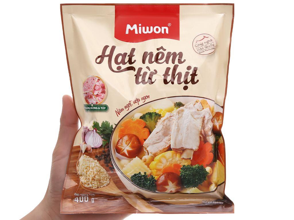 Hạt nêm từ thịt Miwon gói 400g 5