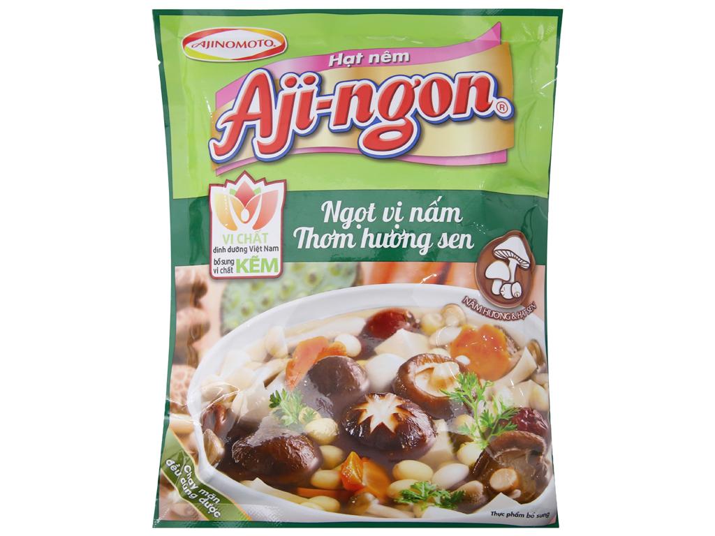 Hạt nêm nấm hương, hạt sen Aji-ngon gói 200g 1