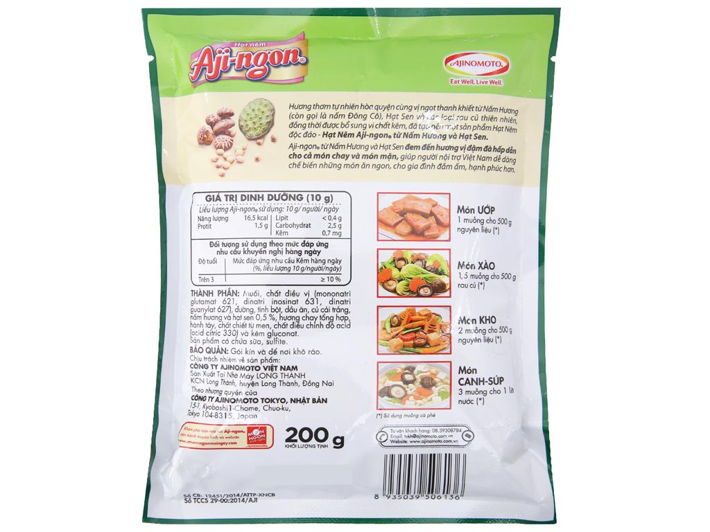 Hạt nêm nấm hương, hạt sen Aji-ngon gói 200g 2