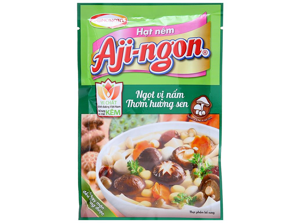 Hạt nêm Nấm hương, hạt sen Aji-ngon gói 60g 1