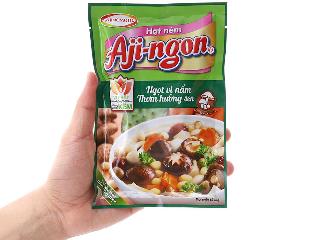 Hạt nêm Nấm hương, hạt sen Aji-ngon gói 60g 3