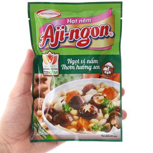 Hạt nêm nấm hương, hạt sen Aji-ngon gói 60g